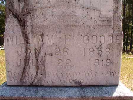 GOODE, WILLIAM H - Columbia County, Arkansas | WILLIAM H GOODE - Arkansas Gravestone Photos