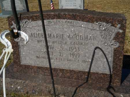 GOODMAN, ALICE MARIE - Columbia County, Arkansas | ALICE MARIE GOODMAN - Arkansas Gravestone Photos