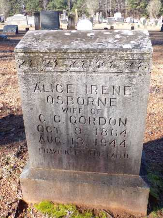 GORDON, ALICE IRENE - Columbia County, Arkansas | ALICE IRENE GORDON - Arkansas Gravestone Photos