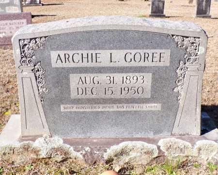 GOREE, ARCHIE L - Columbia County, Arkansas   ARCHIE L GOREE - Arkansas Gravestone Photos