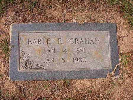 GRAHAM, EARLE E - Columbia County, Arkansas | EARLE E GRAHAM - Arkansas Gravestone Photos