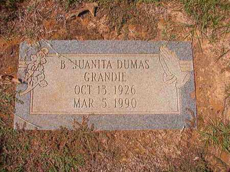 GRANDIE, B JUANITA - Columbia County, Arkansas | B JUANITA GRANDIE - Arkansas Gravestone Photos