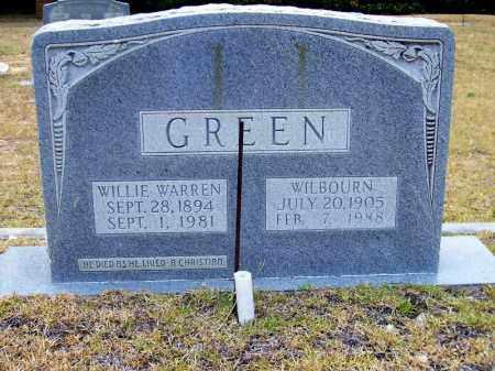 GREEN GREEN, MAGGIE WILBOURN - Columbia County, Arkansas | MAGGIE WILBOURN GREEN GREEN - Arkansas Gravestone Photos