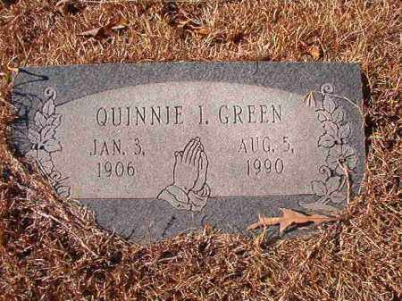 GREEN, QUINNIE I - Columbia County, Arkansas | QUINNIE I GREEN - Arkansas Gravestone Photos