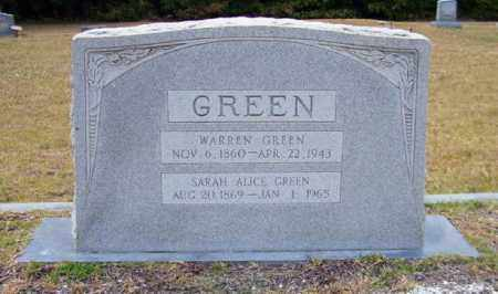 GREEN, SARAH ALICE - Columbia County, Arkansas | SARAH ALICE GREEN - Arkansas Gravestone Photos