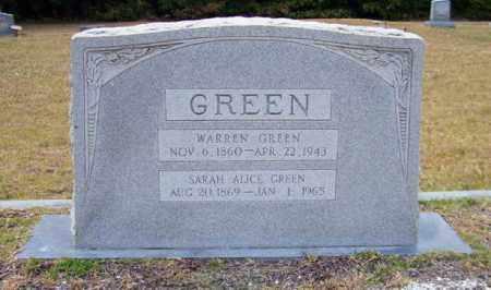 GREEN, WARREN - Columbia County, Arkansas | WARREN GREEN - Arkansas Gravestone Photos