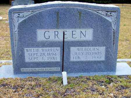 GREEN, WILLIE WARREN - Columbia County, Arkansas | WILLIE WARREN GREEN - Arkansas Gravestone Photos