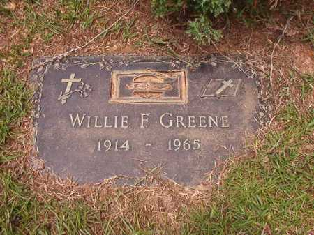 GREENE, WILLIE F - Columbia County, Arkansas | WILLIE F GREENE - Arkansas Gravestone Photos
