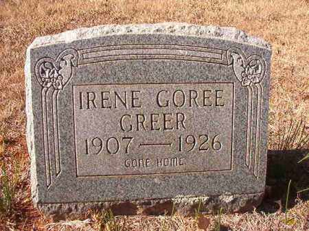 GOREE GREER, IRENE - Columbia County, Arkansas | IRENE GOREE GREER - Arkansas Gravestone Photos