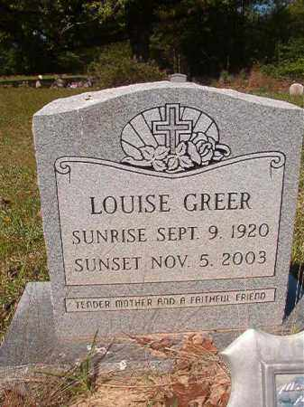 GREER, LOUISE - Columbia County, Arkansas | LOUISE GREER - Arkansas Gravestone Photos