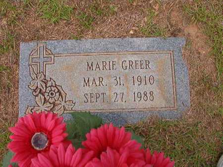 GREER, MARIE - Columbia County, Arkansas | MARIE GREER - Arkansas Gravestone Photos