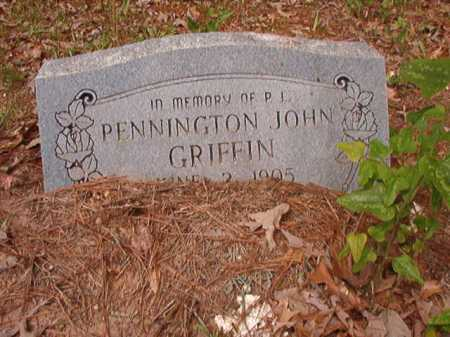 GRIFFIN, PENNINGTON JOHN - Columbia County, Arkansas | PENNINGTON JOHN GRIFFIN - Arkansas Gravestone Photos