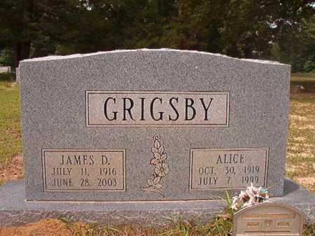 GRIGSBY, ALICE - Columbia County, Arkansas | ALICE GRIGSBY - Arkansas Gravestone Photos