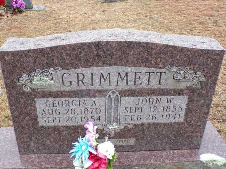 GRIMMETT, JOHN W - Columbia County, Arkansas | JOHN W GRIMMETT - Arkansas Gravestone Photos