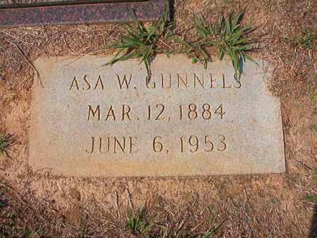 GUNNELS, ASA W - Columbia County, Arkansas | ASA W GUNNELS - Arkansas Gravestone Photos