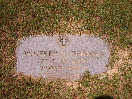 GUNNELS (VETERAN WWII), WINFREY K - Columbia County, Arkansas | WINFREY K GUNNELS (VETERAN WWII) - Arkansas Gravestone Photos