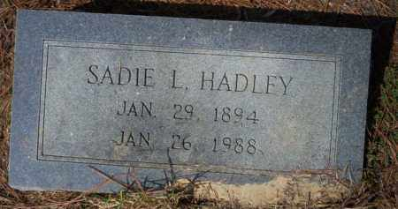 HADLEY, SADIE L - Columbia County, Arkansas | SADIE L HADLEY - Arkansas Gravestone Photos