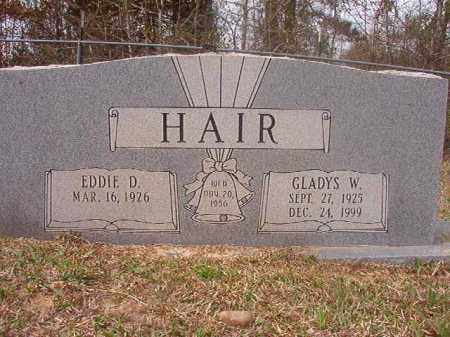 HAIR, GLADYS W - Columbia County, Arkansas | GLADYS W HAIR - Arkansas Gravestone Photos