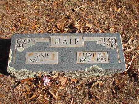 HAIR, JANIE - Columbia County, Arkansas | JANIE HAIR - Arkansas Gravestone Photos