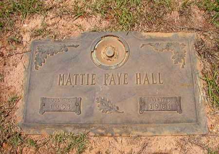 HALL, MATTIE FAYE - Columbia County, Arkansas | MATTIE FAYE HALL - Arkansas Gravestone Photos