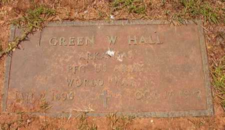 HALL (VETERAN WWI), GREEN W - Columbia County, Arkansas | GREEN W HALL (VETERAN WWI) - Arkansas Gravestone Photos