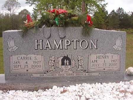 HAMPTON, CARRIE S - Columbia County, Arkansas | CARRIE S HAMPTON - Arkansas Gravestone Photos