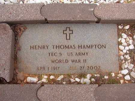 HAMPTON (VETERAN WWII), HENRY THOMAS - Columbia County, Arkansas | HENRY THOMAS HAMPTON (VETERAN WWII) - Arkansas Gravestone Photos