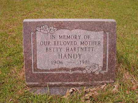HARTNETT HANDY, BETTY - Columbia County, Arkansas | BETTY HARTNETT HANDY - Arkansas Gravestone Photos