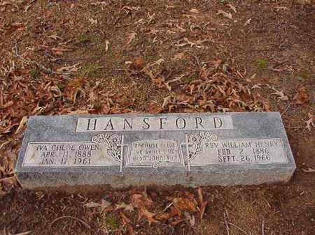 HANSFORD, REV, WILLIAM HENRY - Columbia County, Arkansas | WILLIAM HENRY HANSFORD, REV - Arkansas Gravestone Photos