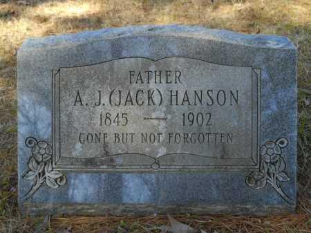 "HANSON, A J ""JACK"" - Columbia County, Arkansas | A J ""JACK"" HANSON - Arkansas Gravestone Photos"