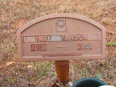 HANSON, BABY - Columbia County, Arkansas | BABY HANSON - Arkansas Gravestone Photos