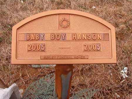 HANSON, BABY BOY - Columbia County, Arkansas | BABY BOY HANSON - Arkansas Gravestone Photos