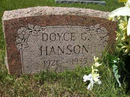 HANSON, DOYCE G - Columbia County, Arkansas | DOYCE G HANSON - Arkansas Gravestone Photos