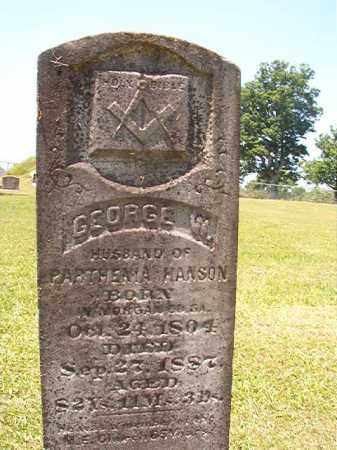 HANSON, GEORGE W - Columbia County, Arkansas | GEORGE W HANSON - Arkansas Gravestone Photos
