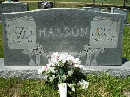 HANSON, FANNIE L - Columbia County, Arkansas | FANNIE L HANSON - Arkansas Gravestone Photos