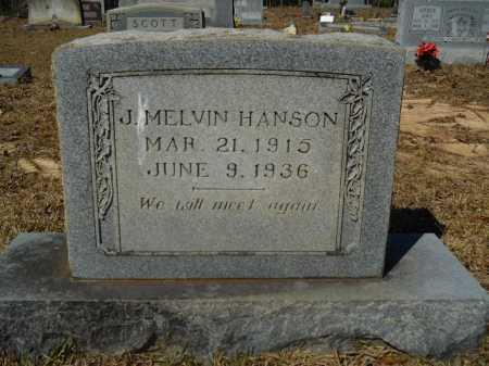 HANSON, J MELVIN - Columbia County, Arkansas | J MELVIN HANSON - Arkansas Gravestone Photos