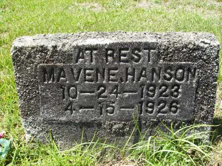 HANSON, MAVENE - Columbia County, Arkansas | MAVENE HANSON - Arkansas Gravestone Photos