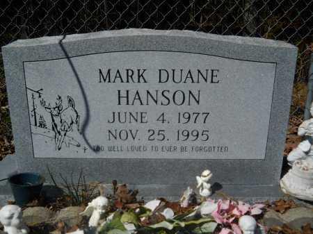 HANSON, MARK DUANE - Columbia County, Arkansas | MARK DUANE HANSON - Arkansas Gravestone Photos