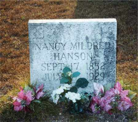 HANSON, NANCY MILDRED - Columbia County, Arkansas | NANCY MILDRED HANSON - Arkansas Gravestone Photos