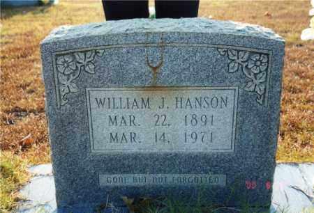 HANSON, WILLIAM J. - Columbia County, Arkansas | WILLIAM J. HANSON - Arkansas Gravestone Photos