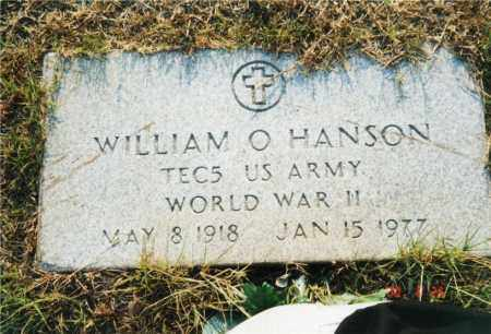 HANSON (VETERAN WWII), WILLIAM O - Columbia County, Arkansas | WILLIAM O HANSON (VETERAN WWII) - Arkansas Gravestone Photos