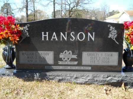COOK HANSON, SHIRLEY N - Columbia County, Arkansas | SHIRLEY N COOK HANSON - Arkansas Gravestone Photos