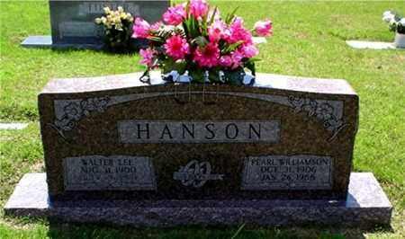 HANSON, WALTER - Columbia County, Arkansas | WALTER HANSON - Arkansas Gravestone Photos