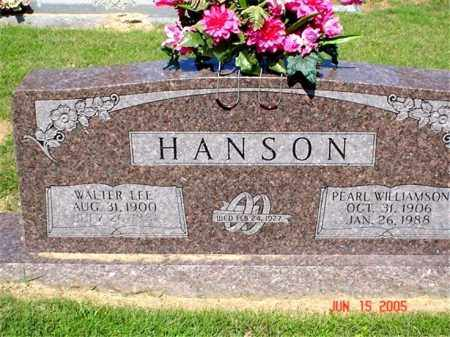 HANSON, WALTER LEE - Columbia County, Arkansas | WALTER LEE HANSON - Arkansas Gravestone Photos