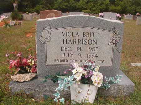BRITT HARRISON, VIOLA - Columbia County, Arkansas | VIOLA BRITT HARRISON - Arkansas Gravestone Photos