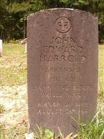 HARROLD (VETERAN WWI), JOHN EDWARD - Columbia County, Arkansas | JOHN EDWARD HARROLD (VETERAN WWI) - Arkansas Gravestone Photos
