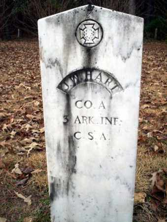HART (VETERAN CSA), J W - Columbia County, Arkansas | J W HART (VETERAN CSA) - Arkansas Gravestone Photos