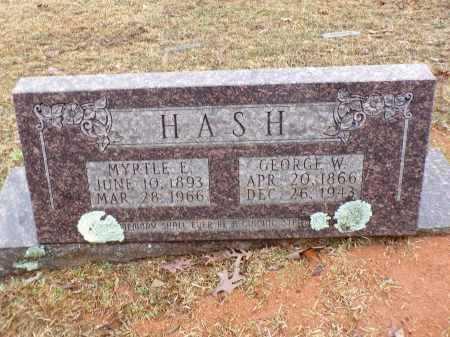 HASH, GEORGE W - Columbia County, Arkansas | GEORGE W HASH - Arkansas Gravestone Photos
