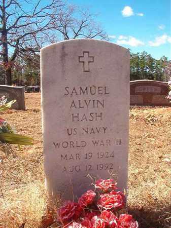 HASH (VETERAN WWII), SAMUEL ALVIN - Columbia County, Arkansas | SAMUEL ALVIN HASH (VETERAN WWII) - Arkansas Gravestone Photos