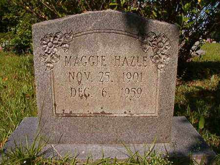 HAZLE, MAGGIE - Columbia County, Arkansas | MAGGIE HAZLE - Arkansas Gravestone Photos